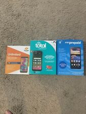 New listing 3x new lot -At&t Prepaid Alcatel Insight, total wireless Moto g7 optimo,boost