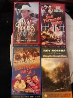 LOT OF 4~ROY ROGERS VHS COLLECTION~DON'T FENCE ME IN~SHINE ON HARVEST MOON + 2