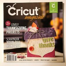 Cricut Magazine November 2011 Thanksgiving Christmas Fall Home Decor Sports NEW