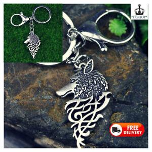 Key Ring Keychain Wolf Head Pendant Ring Bag Charm Wolf head Punk 3D Jewelry New
