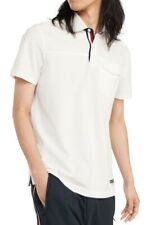 Tommy Hilfiger Mens James Pique Polo Shirt White Ivory Size 2XL Pocket $59 323