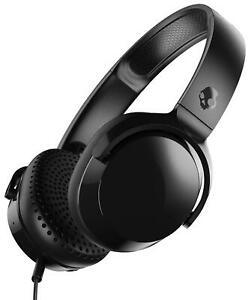 Skullcandy Riff Black Wired On Ear Headphones with Microphone