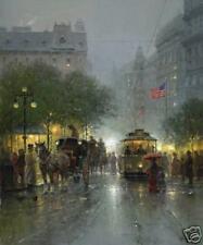 G Harvey 'Evening on Broadway' Ld Ed Canvas
