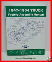 1947 1948 1949 1950 1951 1952 1953 1954  Chevy Truck Factory Assembly Manual