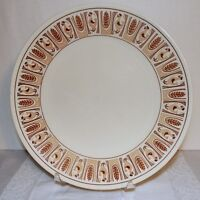 TAYLOR SMITH TAYLOR CHICKEN AND RICE DINNER PLATE TAYLORSTONE WHEAT TAN BROWN cp
