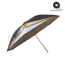 "Photo Soft Box 33"" Black Gold Reflector Umbrella with Light Sphere Flash Light"