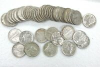 50 Coin Lot Mercury Dimes 10c Roll 90% Silver XF/AU 50 Coins $5 Face Value Q3EN