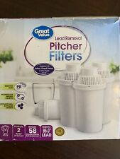Great Value Lead Removal Water Pitcher Cartridge 4 Pack White
