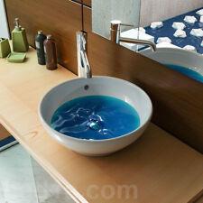 Aufsatzwaschschale mit Überlauf Keramikschale  Waschtisch Handwaschbecken