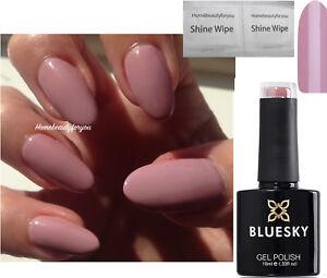 BLUESKY GEL POLISH PINK MUSK PASTEL NUDE A44 NAIL LED UV SOAK OFF, ANY 2 = FILE