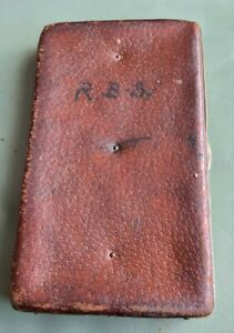 A RARE VINTAGE LEATER CLIPPED WALLET A RARE PIECE SMALL SALMON CLIPPED BOX
