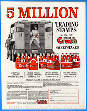 Vintage 1965 Orange Crush 5 Million Trading Stamp Sweepstakes Original Print Ad