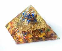 Energy Generator Orgone Pyramid Mix Chakra Gemstone With Lapiz Lazuli Merkaba