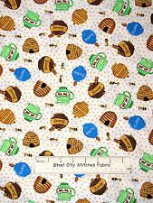 The Three Bears Fabric 100% Cotton ~1.83 Yds~  Windham Honey Pot Cookie Jar Toss