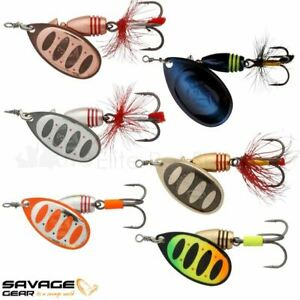 Savage Gear Rotex Spinner Fishing Lures Salmon Pike Trout Sinking Bait