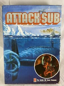 1991 Avalon Hill | Attack Sub | Board Game Modern Submarine Warfare