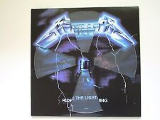 METALLICA RIDE THE LIGHTNING LP 2016 PICTURE DISC IMPORT DIE CUT COVER