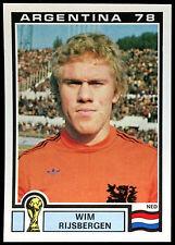 Argentina 78 Wim Rijsbergen #116 World Cup Story Panini Sticker (C350)