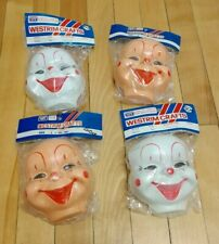 Vintage Lot Of Four Westrim Doll Making Masks Clowns Style 6404 New Old Stock