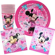 Minnie Mouse Party Supplies Pack 40, 8 Plates, 8 Cups, 8 Lootbags, 16 Napkins