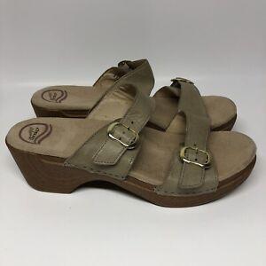 Dansko Womens Sandals Wedge Double Strap Size 12.5 (43)
