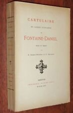 Mayenne CARTULAIRE DE L'ABBAYE CISTERCIENNE DE FONTAINE-DANIEL G-Duperon 1896 EO