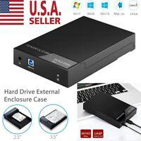 "2.5"" 3.5 inch Hard Drive External Enclosure SATA to USB 3.0 HDD Docking Station"