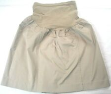 MOTHERHOOD Maternity BEIGE Skirt XL with Back Slit Elastic Waist