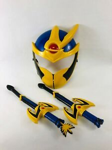 2006 Power Rangers Mystic Force Solaris Knight Training Set Mask & Daggers