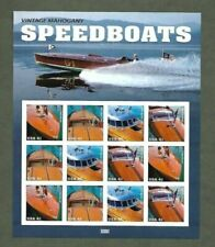 Vintage Speedboats 4160-4163. Mnh 41¢ sheet of 12. Issued in 2007 - 5 Avail