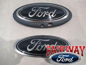 18 thru 20 F-150 OEM Genuine Ford Smoke Chrome and Black Oval Kit with Camera