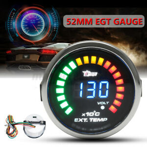2'' 52mm EGT LED Digital Exhaust Gas Temp Temperature Gauge Meter With Sensor