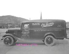 OLD GERMAN 1930s PANEL BEER TRUCK PHOTO 8X11 TALBOTT DISTRIBUTING CO BRAMWELL WV