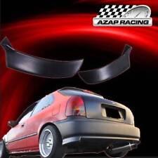 1996-2000 Rear Bumper Lip Valance Spats 2Pcs Fits Honda Civic Hatchback 3Door