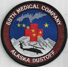 US ARMY 68TH MEDICAL COMPANY PATCH-   'ALASKA DUSTOFF'                     COLOR