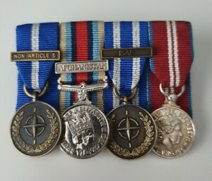 Afghanistan Operational Service Medal Miniature Group x4 Medals