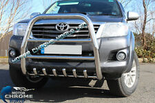 FITS TO TOYOTA HILUX BULL BAR CHROME AXLE HIGH NUDGE A-BAR 60mm 2011-2015 OFFER