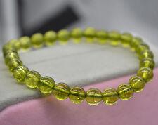 Genuine Natural Green Peridot Gemstone Round Beads Bracelet 5mm AAA