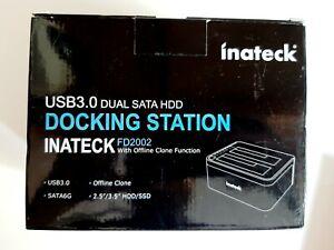 Inateck USB 3.0 to SATA Dual Hard Drive Docking Station Brand New in Box