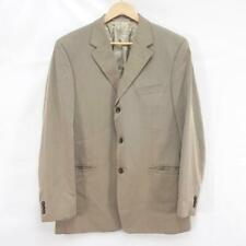 "Versace Classic VL29 Mens Golden/Beige Fine Stripe Suit Blazer Jacket, 44"" Chest"