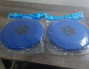 """(2) Dog Frisbee Flying Disk 9"""" Throwing Toy New"""