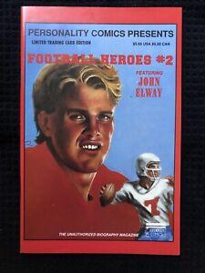 Vintage 1992 Personality Comics Presents Football Heroes #2 John Elway