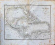 Carte Ancienne XIXème - Carte des Antilles - Golfe du Mexique - M. Lapie - 1829