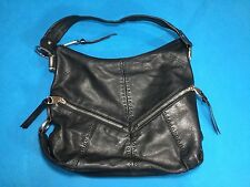 B Makowsky Handbag/Purse - Black Genuine Leather - Shoulder Bag - Int. Leopard