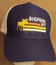 Big Fork Montana Hat Cap Trucker  MT USA Embroidery Moose Unisex New