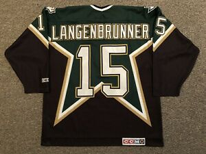 Jamie Langebrunner - Dallas Stars - 1997-00 CCM Away Jersey sz XL