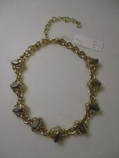Lee By Lee Angel Gold Bubble Stone Necklace NWT $138 Nordstrom SIGN