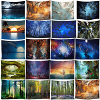 Forest Scenery Tapestry Wall Hanging Decor Mat Carpet Home Decor Bedspread Throw