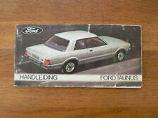 FORD TAUNUS HANDLEIDING OWNER;S MANUAL 1976 ? CAR AUTO