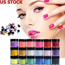 18 Colors Nail Art Powder Dust Acrylic UV Gel Tips Set 3D Manicure Decoration US